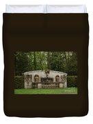 Guildwood Park Statute Duvet Cover
