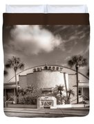 Gulfport Casino In Sepia Duvet Cover