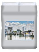 Gulfport Harbor Duvet Cover