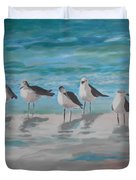 Gulls On Beach Duvet Cover