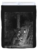 Guy Fawkes, English Soldier Convicted Duvet Cover by Photo Researchers