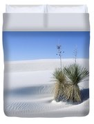 Gypsum Dunes And Yucca Duvet Cover
