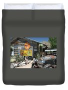 Hackberry Signs   Arizona Route 66 Duvet Cover