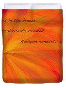 Halcyon Haiku Duvet Cover