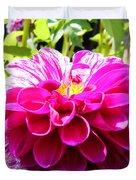 Half And Half Flower Duvet Cover
