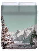 Half Dome In The Snow Duvet Cover