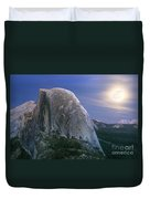 Half Dome Moon Rise Duvet Cover