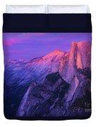Half Purple Dome Duvet Cover