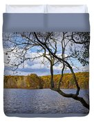 Hall Lake In Autumn No 0118 Duvet Cover