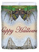 Halloween Fantasmagorical Cicada Card Duvet Cover