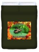 Halloween Greeting Card - Box Elder Bug Duvet Cover