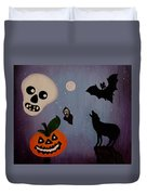 Halloween Night Original Acrylic Painting Placemat Duvet Cover