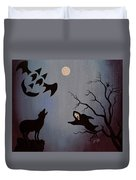 Halloween Night Party Original Painting Placemat Doormat Duvet Cover
