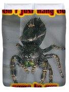 Halloween Party Invitation - Salticid Jumping Spider Duvet Cover