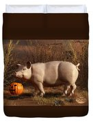 Halloween Pig Duvet Cover
