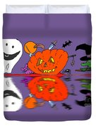 Halloween Reflections Duvet Cover