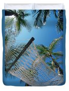 Hammock And Palm Tree, Great Barrier Duvet Cover