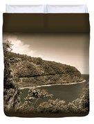 Hana Highway Sepia Duvet Cover