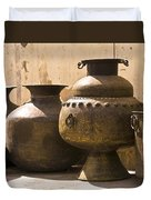 Hand Crafted Jugs, Jaipur, India Duvet Cover