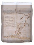 Hand Drawn Map By G. Washington Duvet Cover