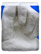 Hand In Snow Duvet Cover