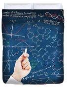 Hand Writing Science Formulas Duvet Cover
