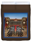 Hands Of Time Reaches For You Duvet Cover