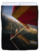 Hang Glider Over Telluride, Colorado Duvet Cover
