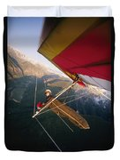 Hang Gliding With Wing-mounted Camera Duvet Cover