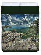 Hanging On To Life Duvet Cover