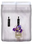 Hanging Pansies Duvet Cover