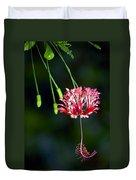 Hanging Coral Hibiscus Duvet Cover