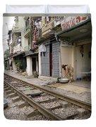 Hanoi Daily Life Duvet Cover
