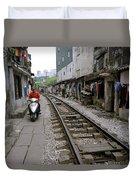 Hanoi Train Tracks Duvet Cover