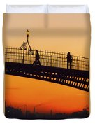 Hapenny Bridge, Dublin, Co Dublin Duvet Cover