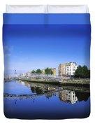 Hapenny Bridge, River Liffey, Dublin Duvet Cover