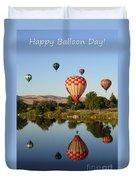 Happy Balloon Day Duvet Cover