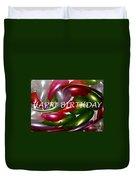 Happy Birthday - Balloons Duvet Cover by Kaye Menner