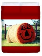 Happy Fall Face Duvet Cover