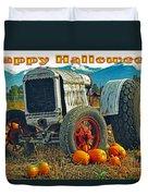 Happy Halloween Card Duvet Cover