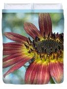 Happy Red Sunflower Duvet Cover