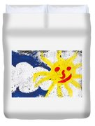 Happy Sun Face Duvet Cover