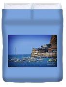 Harbor - North Coast Of Spain Duvet Cover