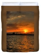 Harbor Sunrise Duvet Cover