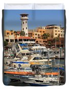Harbor Waterfront In Cabo San Lucas Duvet Cover