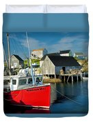 Harbour Mist In Peggy's Cove No 103 Duvet Cover
