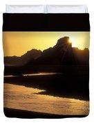 Harris Beach Sunset Duvet Cover