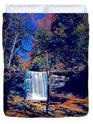 Harrison Wright Falls In Fall Duvet Cover