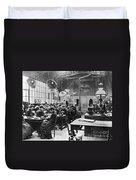 Hat Factory, C1900 Duvet Cover
