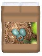 Hatching Robin Nestlings Duvet Cover